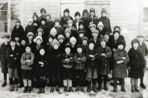 Les élèves du rang Sud en 1922