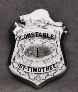 L'écusson du constableTrahan en 1935