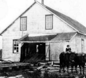 Le moulin à scie des Petites Forges en 1920
