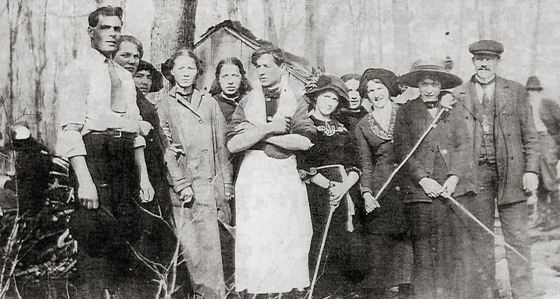 Le temps des sucres è Hérouxville en 1913