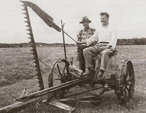 Welly Brouillette et son neveu Marcel Carigan en 1955